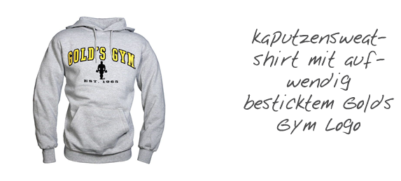 kaputzensweatshirt Golds Gym